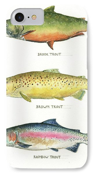 Trout Species IPhone Case by Juan Bosco