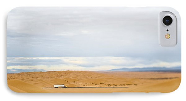 Truck Driving Through Desert IPhone Case by Eddy Joaquim