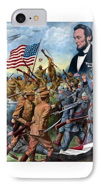 True Sons Of Freedom -- Ww1 Propaganda IPhone 7 Case by War Is Hell Store