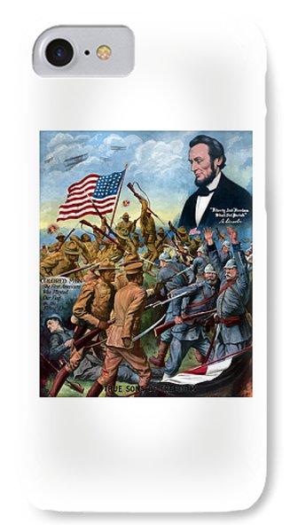 True Sons Of Freedom -- Ww1 Propaganda IPhone Case by War Is Hell Store