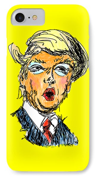 Trump IPhone 7 Case by Robert Yaeger
