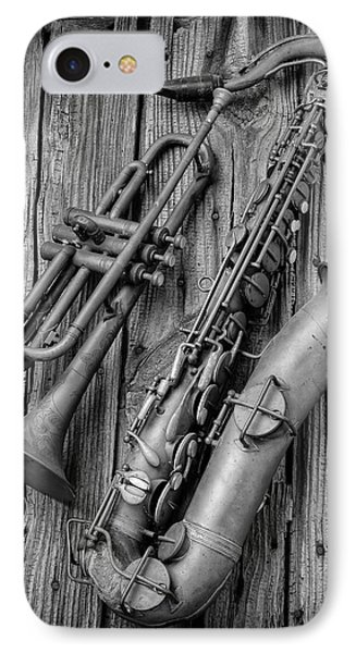 Trumpet And Sax IPhone Case by Garry Gay