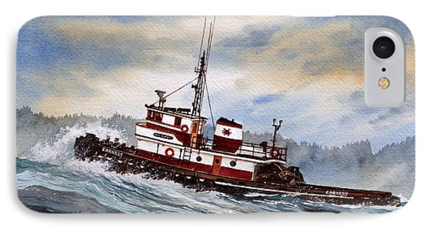 Tugboat Earnest Phone Case by James Williamson