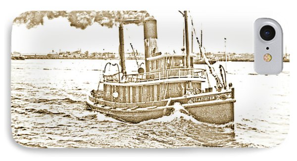 IPhone Case featuring the photograph Tugboat Gladisfen Hudson River C 1900 Vintage Photograph by A Gurmankin