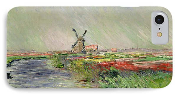 Tulip Field In Holland IPhone Case by Claude Monet