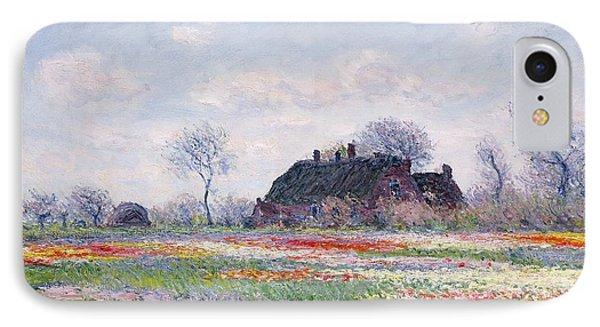 Tulip Fields At Sassenheim IPhone 7 Case by Claude Monet
