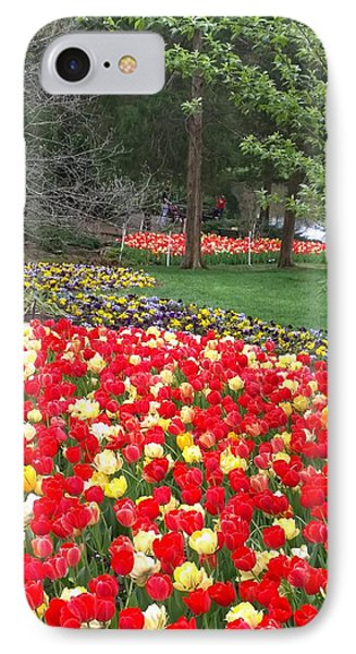 Tulips Galore  IPhone Case by Gayle Miller