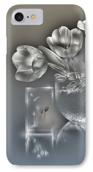 Tulips, Silver Variant IPhone Case by Alexey Kljatov