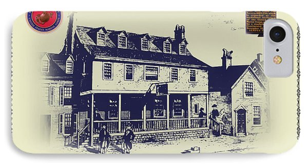 Tun Tavern - Birthplace Of The Marine Corps IPhone Case by Bill Cannon