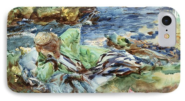 Turkish Woman By A Stream Phone Case by John Singer Sargent