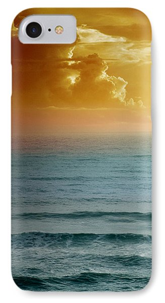 Turquoise Amber Sunrise Phone Case by Maria Eames