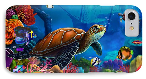 Turtle Domain IPhone Case by Gerald Newton