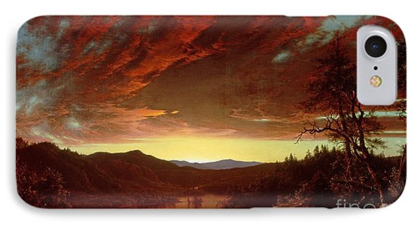 Twilight In The Wilderness IPhone Case by Frederic Edwin Church