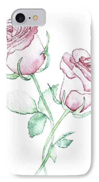 Twin Roses IPhone Case by Varpu Kronholm