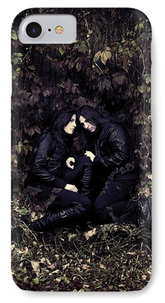 Twins IPhone Case by Cambion Art
