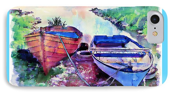 Two Boats On A Shore IPhone Case by Marian Voicu