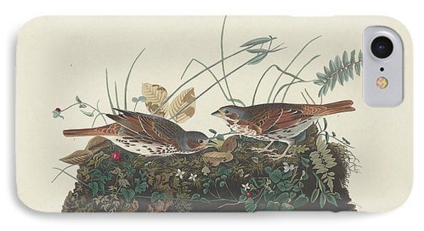 Two-colored Sparrow IPhone Case by John James Audubon