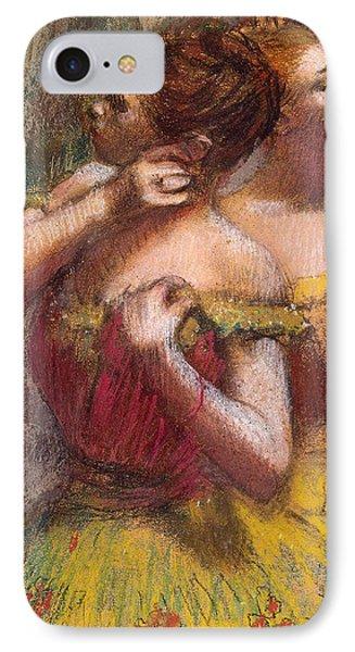 Two Dancers Phone Case by Edgar Degas