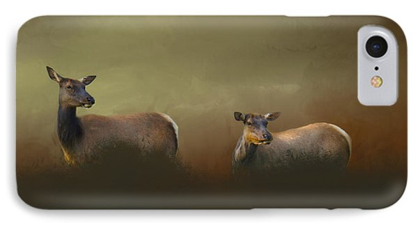 Two Deers IPhone Case by Art Spectrum