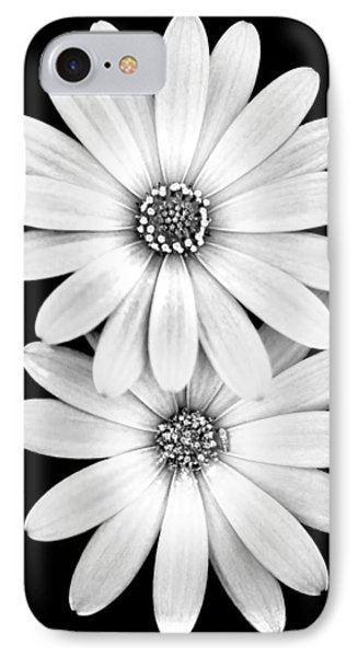 Two Flowers IPhone Case by Az Jackson