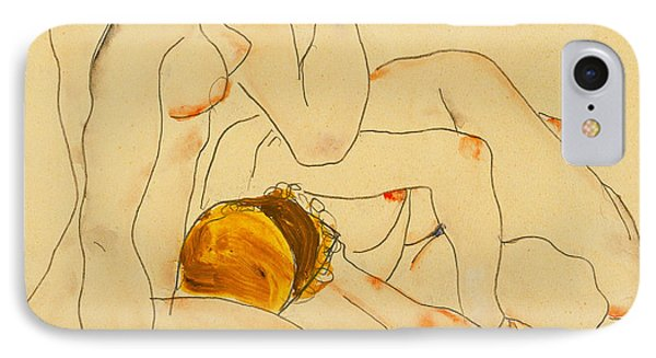 Two Friends IPhone Case by Egon Schiele