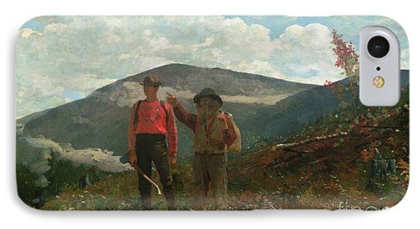 Two Guides Phone Case by Winslow Homer