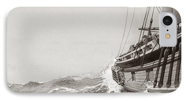 Two King's Messengers Attempt To Row Into The Harbor At Calais  IPhone Case by Pat Nicolle