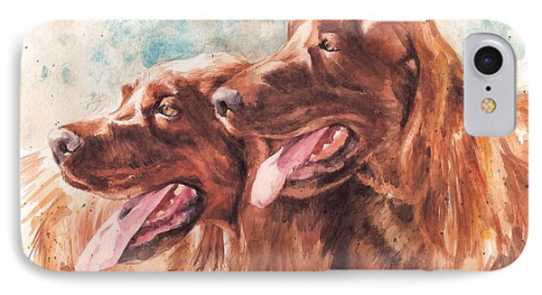 Two Redheads Phone Case by Debra Jones