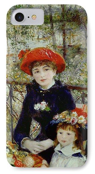 Two Sisters IPhone Case by Pierre Auguste Renoir