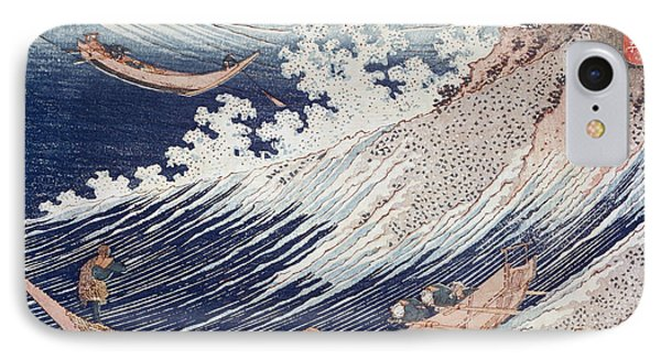 Two Small Fishing Boats On The Sea IPhone Case by Hokusai