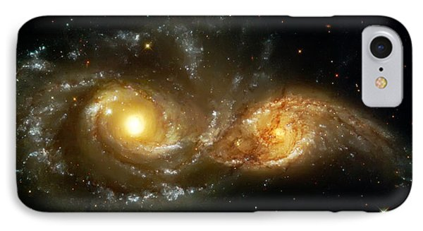 Two Spiral Galaxies IPhone Case by The  Vault - Jennifer Rondinelli Reilly