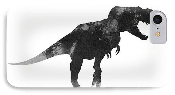 Tyrannosaurus Figurine Watercolor Painting IPhone Case by Joanna Szmerdt