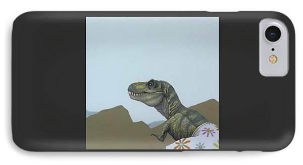 Tyranosaurus Rex IPhone Case by Jasper Oostland