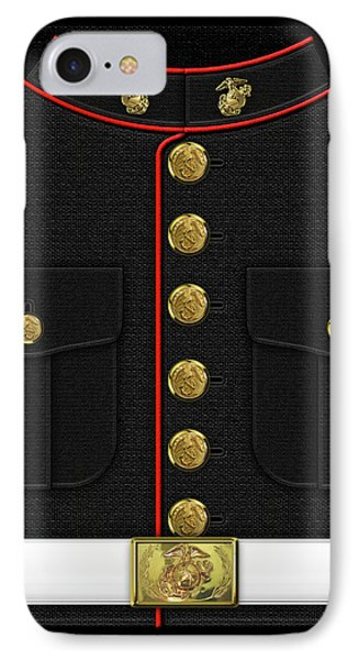 U S M C Dress Uniform IPhone Case by Serge Averbukh