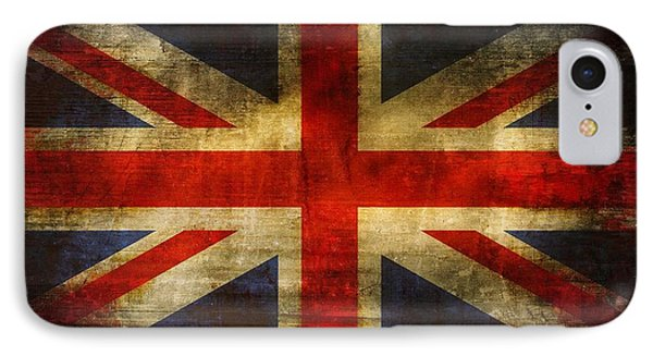 Uk Flag Phone Case by Brett Pfister