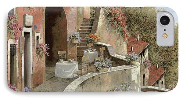 Un Caffe Al Fresco Sulla Salita IPhone Case by Guido Borelli