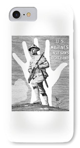 Uncle Sam's Right Hand - Us Marines IPhone Case by War Is Hell Store