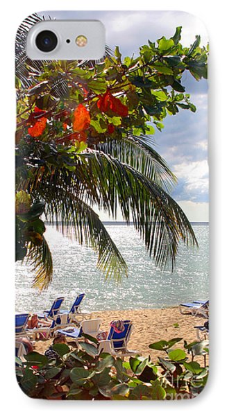 Under The Palms In Puerto Rico Phone Case by Madeline Ellis