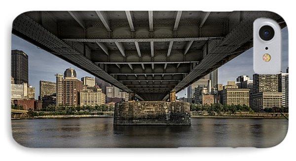 Under The Roberto Clemente Bridge IPhone Case by Rick Berk