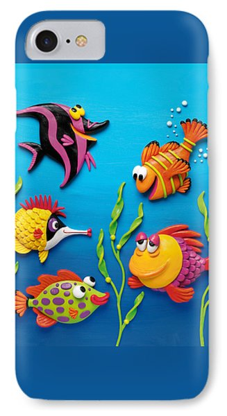 Under The Sea Square IPhone Case by Amy Vangsgard