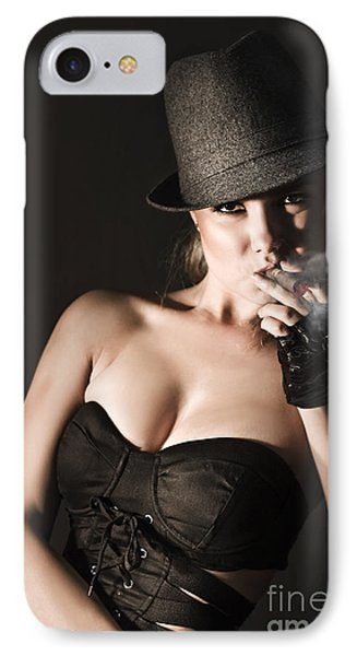 Underworld Gangster Woman IPhone Case by Jorgo Photography - Wall Art Gallery