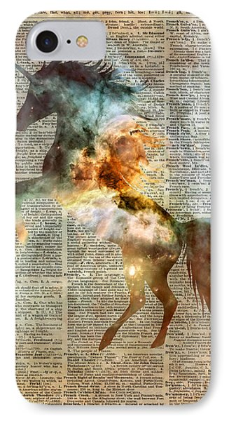 Unicorn Carina Nebula IPhone 7 Case by Jacob Kuch