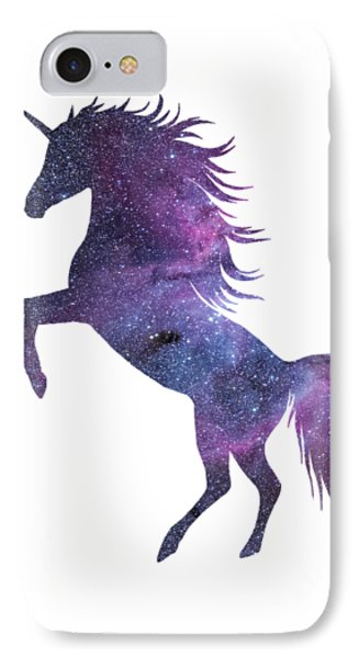 Unicorn In Space-transparent Background IPhone Case by Jacob Kuch