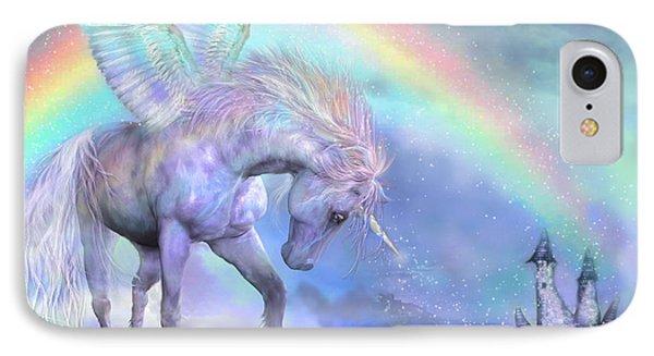Unicorn Of The Rainbow IPhone Case by Carol Cavalaris