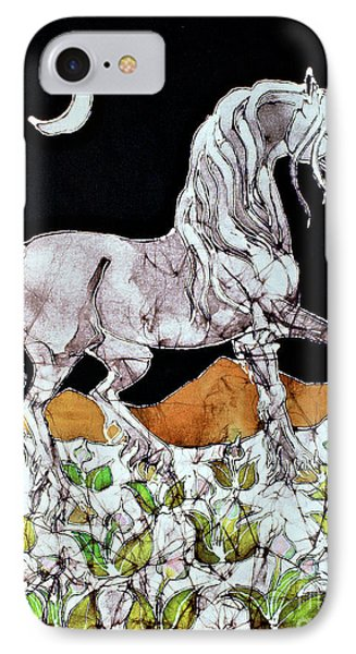 Unicorn Over Flower Field Phone Case by Carol  Law Conklin