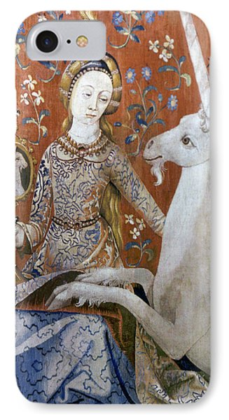 Unicorn Tapestry, 15th C IPhone Case by Granger
