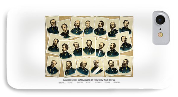 Union Commanders Of The Civil War IPhone Case by War Is Hell Store