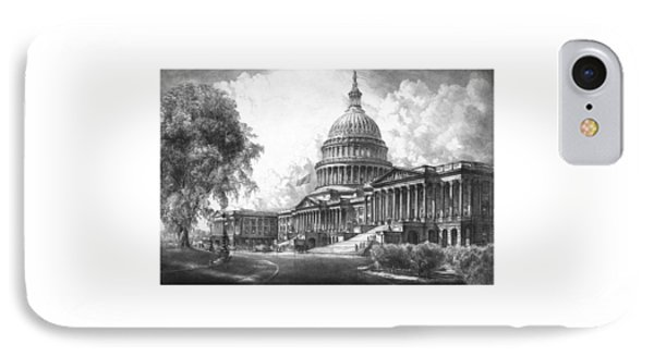 United States Capitol Building IPhone Case by War Is Hell Store