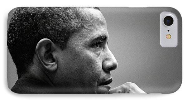 United States President Barack Obama Bw IPhone Case by Celestial Images