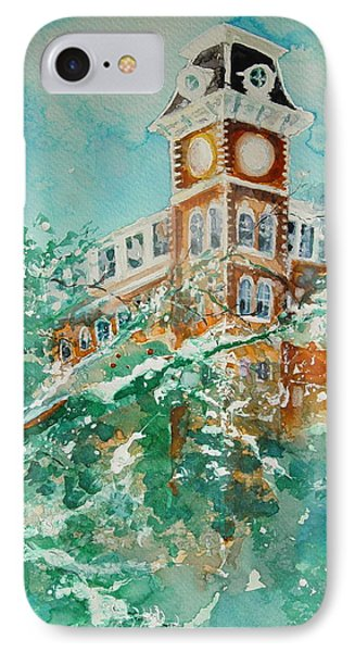 Ice On Old Main IPhone 7 Case by Robin Miller-Bookhout